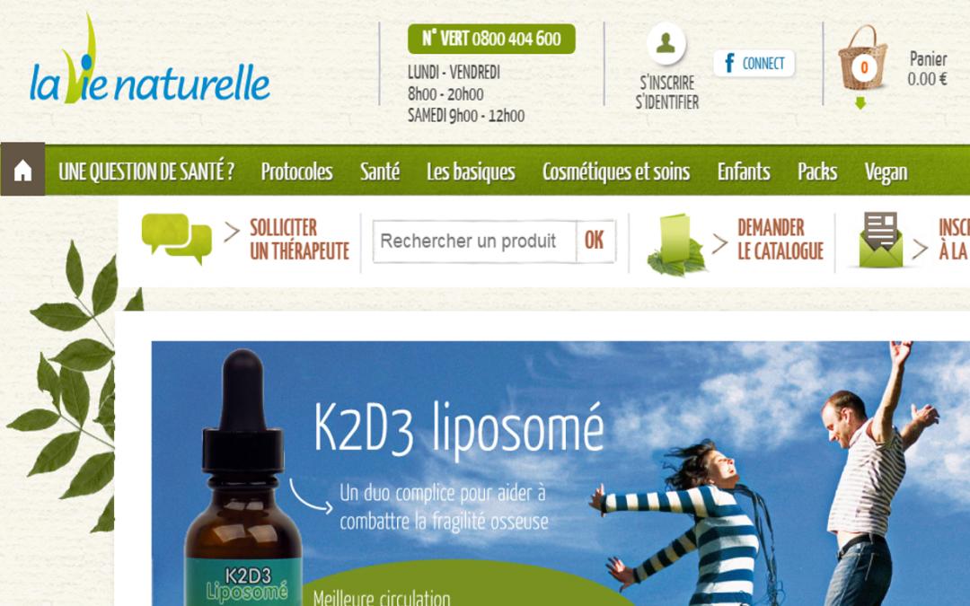 """La Vie Naturelle : """"Quadran a réalisé un audit des optimisations nécessaires pour notre site"""""""