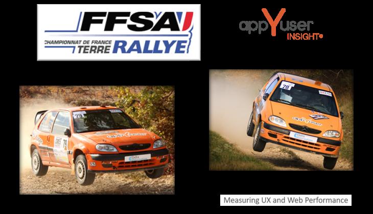 appYuser dans la course – Championnat de France des rallyes