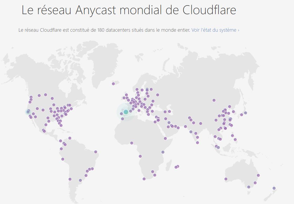 Réseau mondial de Cloudflare